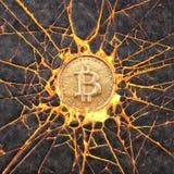 Bitcoin rock Stock Photo