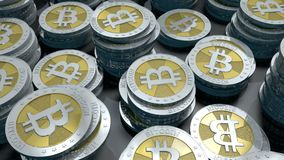 Bitcoin-Schleife lizenzfreie abbildung