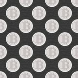 Bitcoin seamless pattern. Cryptocurrency Stock Photo