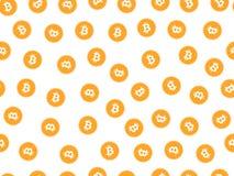 Bitcoin seamless pattern. Monetary system. Vector. Royalty Free Stock Image