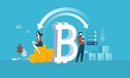 Bitcoin shopping Stock Photography
