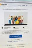 Bitcoin - shot of real monitor screen Stock Images