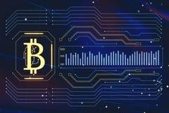 Bitcoin sign royalty free illustration