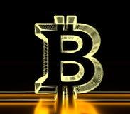 Bitcoin crypto currency symbol Stock Photography