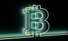 Bitcoin crypto currency symbol Royalty Free Stock Image