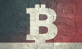Bitcoin crypto currency symbol Royalty Free Stock Photos