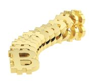 Bitcoin signs falling as a domino effect Stock Images