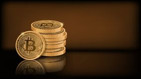 Bitcoin stack Stock Images
