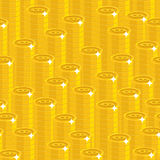 Bitcoin sterty bezszwowy wzór Fotografia Royalty Free