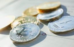 Bitcoin stor design f?r n?gra avsikter arkivbilder