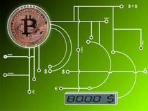 Bitcoin sul circuito immagine stock libera da diritti