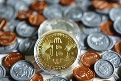 Bitcoin sur nous pièce de monnaie Image libre de droits