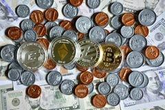 Bitcoin sur nous pièce de monnaie Images libres de droits
