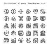Bitcoin symbol Arkivfoton
