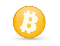 Bitcoin-Symbol Lizenzfreie Stockbilder