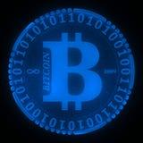 Bitcoin symbol Royaltyfri Foto