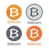 Bitcoin symbol vektor illustrationer