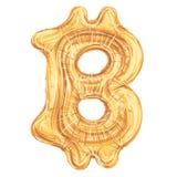 Bitcoin symbol as a balloon, vector illustration. For print or web Royalty Free Stock Photo