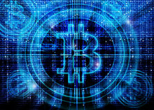 Bitcoin symbol  background Royalty Free Stock Images