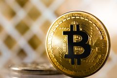 Bitcoin symbol Royalty Free Stock Photos