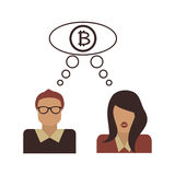 The bitcoin symbol. The concept of e-business. Stock Photography