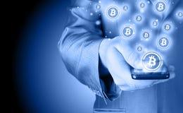Bitcoin symbol Royalty Free Stock Image