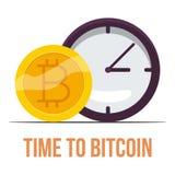 Bitcoin symbol, tecknad filmstil stock illustrationer