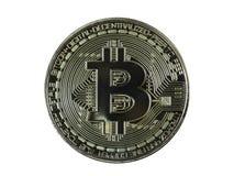 Bitcoin symbol wśród stosów złoty Bitcoins Blockchain zdjęcie royalty free