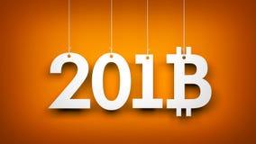 Bitcoin - symbole de Ney Year Illustration d'an neuf illustration libre de droits