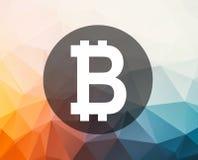 Bitcoin symbolillustration royaltyfri illustrationer