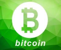 Bitcoin symbolillustration vektor illustrationer