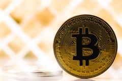 bitcoin symbool Stock Foto's