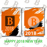 Bitcoin Table flat vector icon. Colored bitcoin table gray, black, blue, green icon variants. Flat icon style fordesign. Royalty Free Stock Image