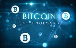 Bitcoin teknologiillustration vektor illustrationer