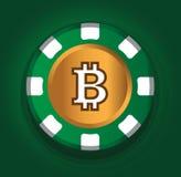 BitCoin temadesign för kasinobegrepp stock illustrationer