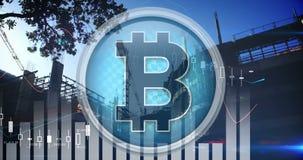Bitcoin-Tendenz und die Industrie 4k stock footage