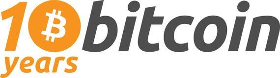 10th Anniversary Bitcoin vector illustration