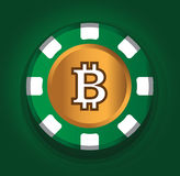 BitCoin-Thema-Design für Kasino-Konzept Lizenzfreie Stockfotos
