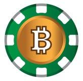 BitCoin-Thema-Design für Kasino-Konzept Stockfotos
