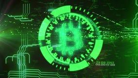 Bitcoin a tiempo ilustración del vector