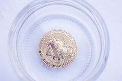Bitcoin to buy a large house for one family in the Bank Stock Photo