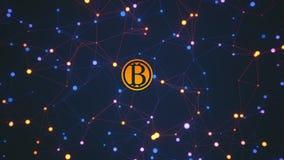 Bitcoin transactions conceptual 3D rendering. Bitcoin transactions, conceptual 3D rendering Stock Image