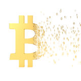 Bitcoin transfer Royalty Free Stock Images