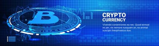 Bitcoin traza tecnología moderna del establecimiento de una red del dinero del web ilustración del vector