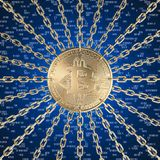 Bitcoin und blockchain stock abbildung