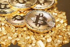 Bitcoin value stock image