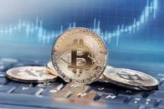 Bitcoin value stock images