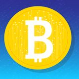 Bitcoin Valuta di Digital Immagine Stock