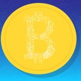 Bitcoin Valuta di Digital Fotografia Stock Libera da Diritti