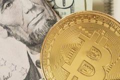 Bitcoin valuta och president Arkivbild